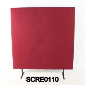 150Cm H X 120Cm W Plum/Black Edge Free Standing Screen