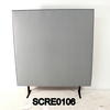 150cm H X 120cm W Pale Grey/Black Edge Free Standing Screen