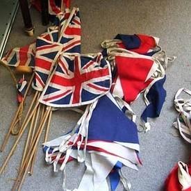 Uk Flags On Sticks