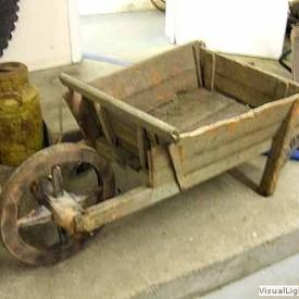 Wooden Garden Wheelbarrow