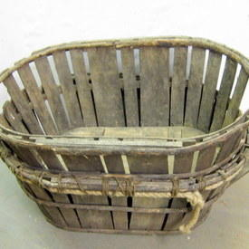 Vintage Wooden Garden Produce Or Market Basket