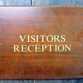 Hospital Visitors Reception Sign