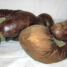 Leather Boxing Gloves 34cm Long
