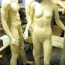 Female And Male Mannequins 180cm High