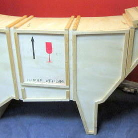 Wooden Cow Bar Furniture With A Cabinet Inside 192x127x49cm