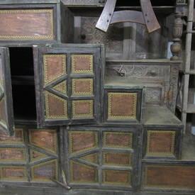 Wooden Step Cabinet 140cm High