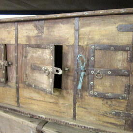 Wooden Chest Cabinet With 3 Doors 141cm Long 87cm High 65cm Wide