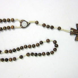 Large Wooden Rosary 96cm Long