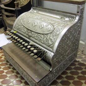Vintage Metal Till Cash Register 43cm High 42cmlong 38cm Wide