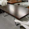 Ebony & Chrome Base 'godiva' Dining Table (100cm X 220cm X H74cm)