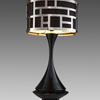 Rs Black Lacqured  Metro   Table Lamp