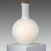 White Glass Cork Topped Round Bottle Shaped Table Lamp