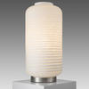 Clear & Opal Tall Ribbed 'yong 'table Lamp
