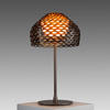 Ochre Brown Perspex Perforated 'tatou' Table Lamp