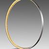 Large Chrome Sculpture Ring Led Light