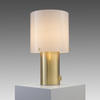Medium Walter Brass Table Lamp With White Glass Shade