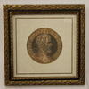 "15""X 15"" Gilt Frame, Roman Figure Head  (Y)"