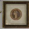 "15""X 15"" Gilt Frame, Roman Figure Head"