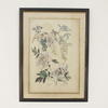 "25""X 18"" Dark Wood & Gilt Framed Print Of Pastel Coloured   Wild Flowers (Y)"