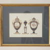 "20""X 16"" Gilt Framed Colour Print Meisen Ceramics"