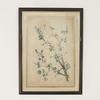 "25""X 18"" Dark Wood & Gilt Framed Print Of Pastel Coloured Wild Flowers"