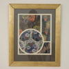 "24""X 19"" Gilt Reeded Frame Floral Deco Print  (Y)"