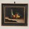 "16"" X 13"" Black And Glt Frame Oil On Canvas Still Life Fruit (Y)"