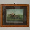 "21"" X 17"" Maple Frame Horseracing Print  (Y)"