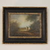 "13"" X 11"" Black & Gilt Frame Oil On Canvas Woodland Scenes"