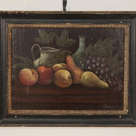 "20"" x  16"" Black Framed Oil on Canvas Fruit Still Life"