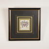 "14"" Square Black And Gilt Frame Colour Heraldic Print"