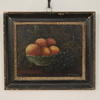 "16"" X 13"" Black And Glt Frame Oil On Canvas Still Life Fruit"