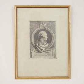 "17"" X 12.5"" B&W Russian Print In Gilt Frame"