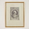 "17"" X 12.5"" B&W Russian Print In Gilt Frame"