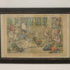 "2'6"" X 1'8"" Black Framed Colour Print French Caracatures  (Y)"