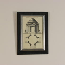 "13""  x  10"" Blk & Silver Trim, Framed B & W Archituctural Prints"