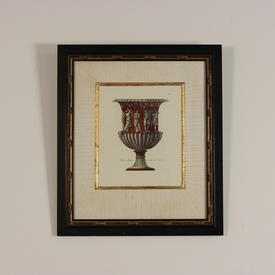 "19"" X 22"" Blk & Gilt Framed Colour Prints, Roman Decorated Urns."