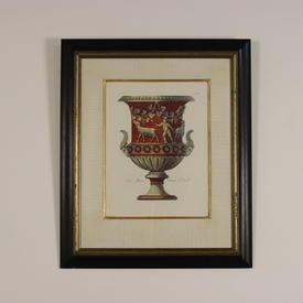 """23""""  x  28"""" Blk & Gilt Framed Colour Prints, Roman Decorated Prints"""