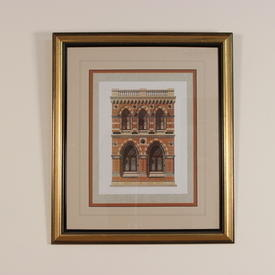 "24""  x  28"" Gilded Framed, Colour Archictectural Prints, Arches"