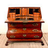 "3'9"" Mahogany 3 Drawer Bombe Front Dutch Style Bureau On Ball & Claw Feet"