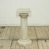 """2'6"""" White Marble 3 Part Ribbed Column  (Y)"""