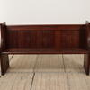 "4'11"" Stained Pine Church Pew With Brass Handles  (Y)"
