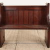 "3'3"" Stained Pine Church Pew With Brass Handles  (Y)"