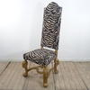 High Back Upholstered Occasional Dining Chair With Gilt Base  (Y)