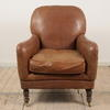 Brown Leather Fireside Easy Chair