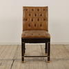Tan Leather Button Back And Seat Occasional Chair With Brass Fitting (Y)