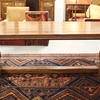 "8'9"" Mahogany French Provincial Black Inlaid Dining Table"