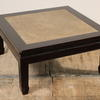 "Low Teak 2'9"" Square Opium Table With Bamboo Top"
