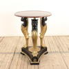 Circular Marble Top Panther Based Occasional Table