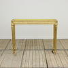 "3'10 X 14"" Gilt Side Table Pink Marble Top"